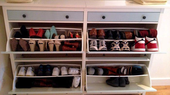 Куча, просто куча обуви размещается в таких комодах!