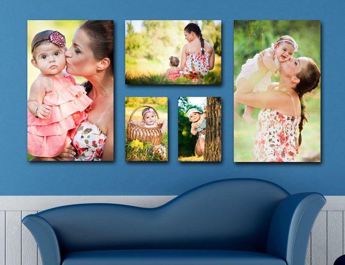 Если выхода нет, и вам очень хочется заполнить стену над диваном – используйте крупные изображения