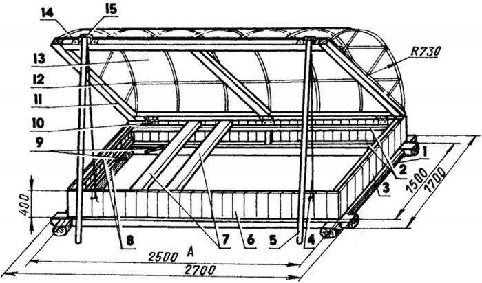 В такой конструкции надо продумать механизм открывания крышки и надёжного удержания её в поднятом положении