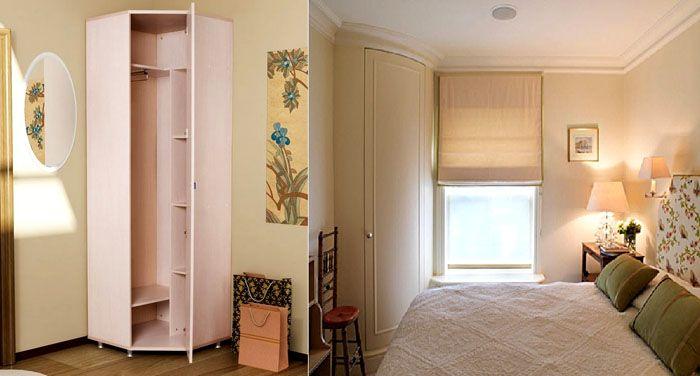 Недорогой корпусный шкаф в спальню и оригинальная модель с радиусным фасадом