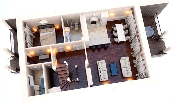 Наиболее эффектно выглядит проект дома в формате 3D