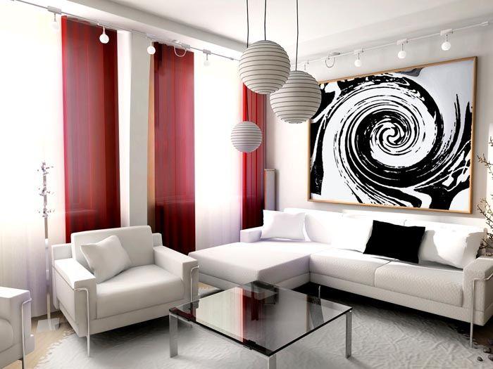 Случайная абстракциячёрно-белого постера на стене, которая может унести смотрящего в свой водоворот