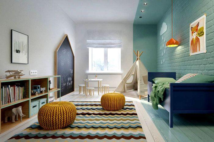 Чем просторнее детская комната, тем больше у ребёнка места для игр, движения и занятий спортом