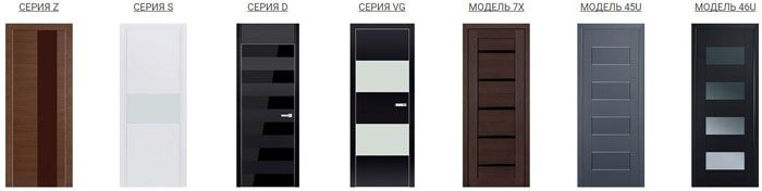 Популярные серии (модели) Profil Doors