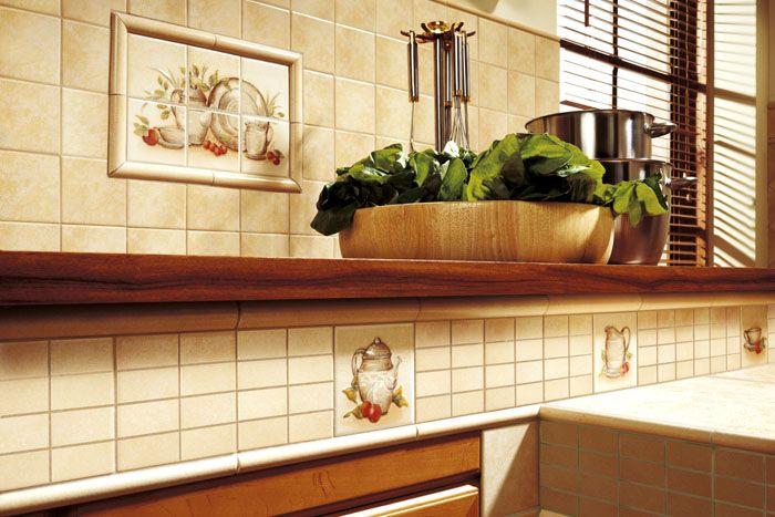 Простая и красивая плитка для кухни на фартук 10×10 см