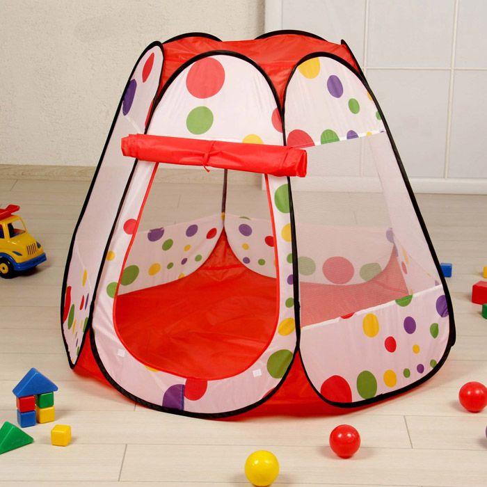 Неплохая идея маленькой собачки – манеж из детской игровой палатки