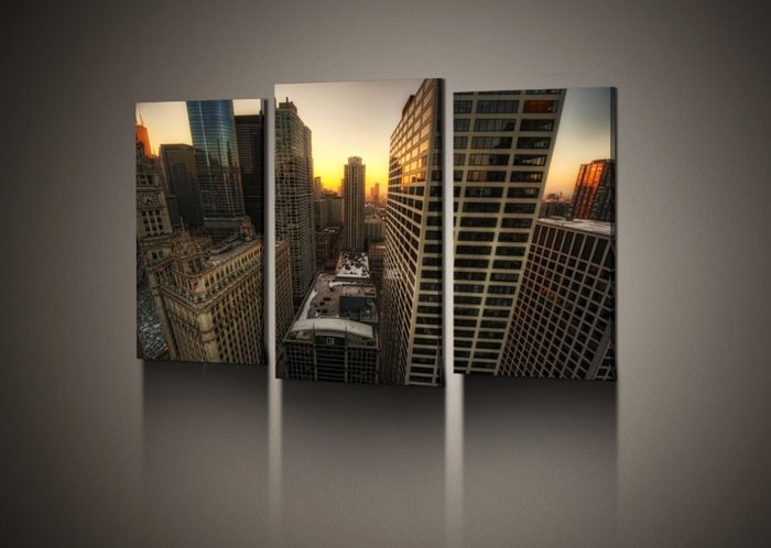 Городской пейзаж также является популярной темой для офиса