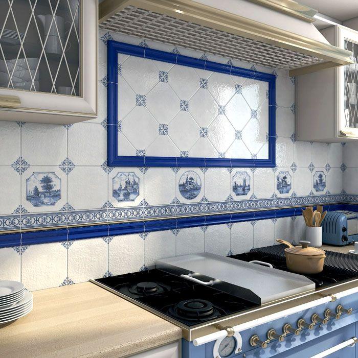 Традиционный орнамент или рисунок освежит кухню