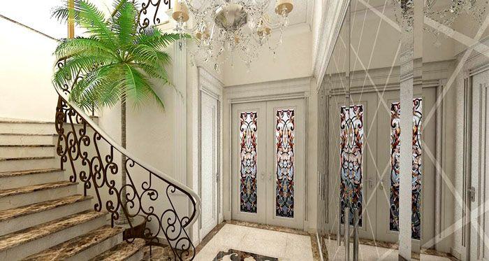 Роскошные лестницы делают с применением дорогих материалов и технологий: натурального камня, художественного литья, древесины ценных пород