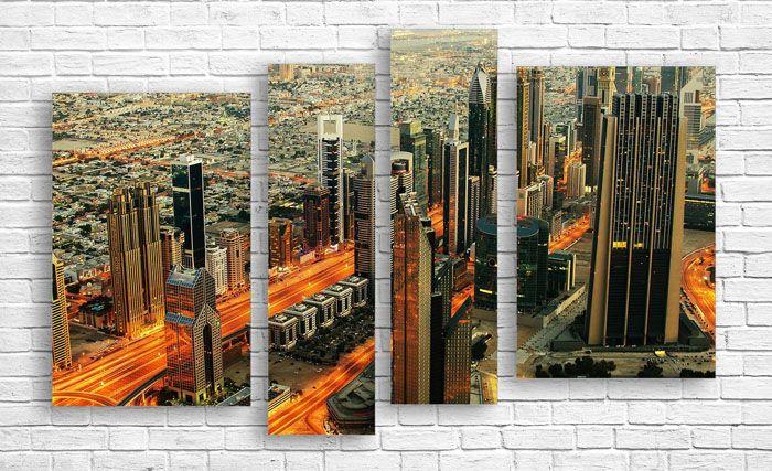 Фотопостеры большого формата в виде модульных картин смотрятся потрясающе в любом офисе