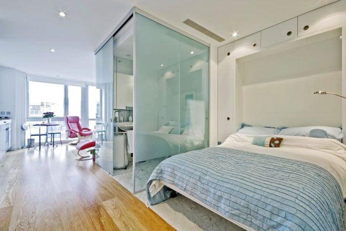 Подобные решения применяют для создания частично изолированных объёмов в обычных жилых комнатах