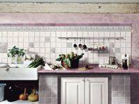 Современные лавандовые тона делают кухню нежной и романтичной