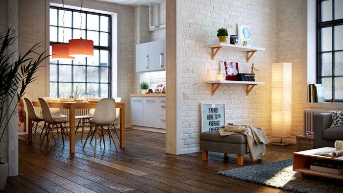 В бюджетном варианте можно использовать линолеум, имитирующий деревянный пол