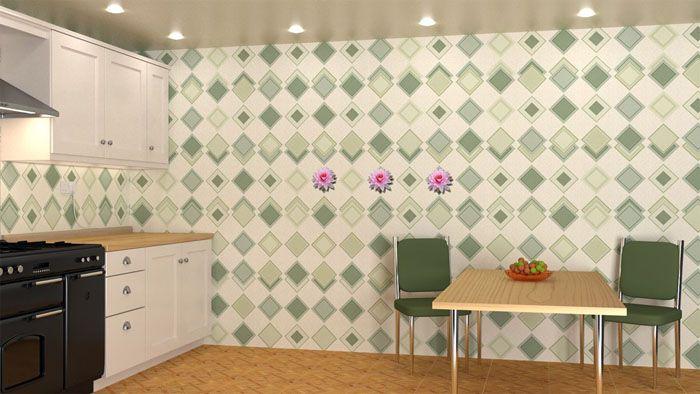На фото пример оформления листовыми панелями ПВХ для кухни
