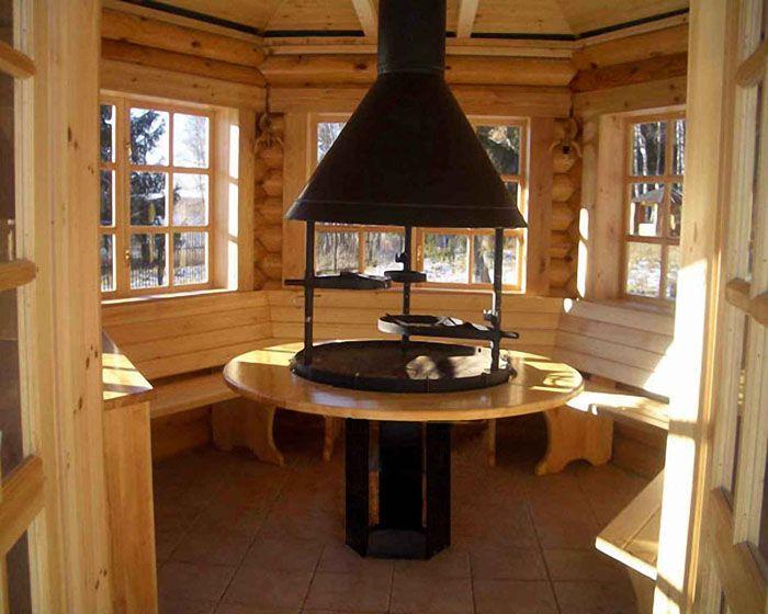 Большинство из подручных материалов очень горючи, так что мангал или печь должны иметь периметр безопасности – открытую площадку, защищённую негорючей плиткой или камнем, чтобы случайная искра не попала на предметы мебели или стены