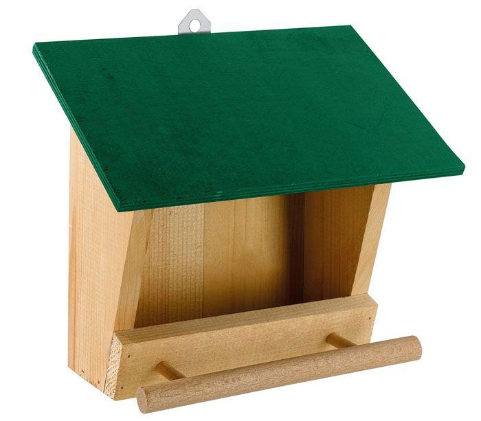 Кормовое место для птиц крупнее требует увеличения размеров строения