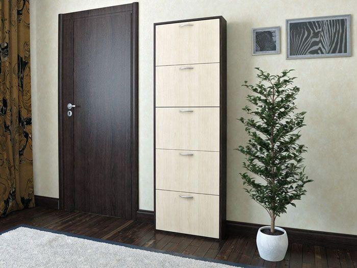 Простота и лаконичность высокого шкафа идеально подходит под стиль помещения