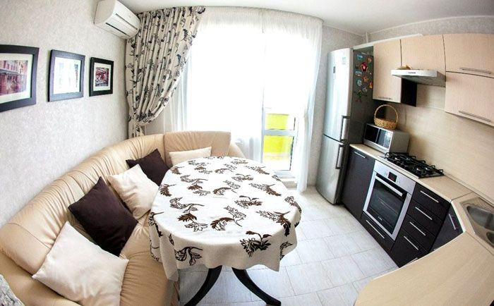 Угловой диван на кухню