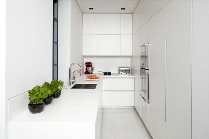 Фото углового кухонного гарнитура для маленькой кухни