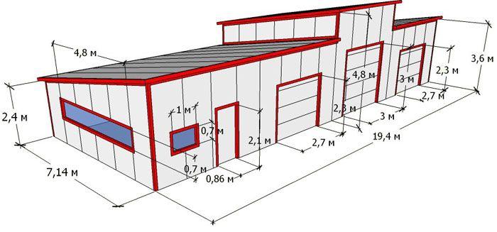 Гараж 6 8 чертеж купить гараж в песочине мобиль