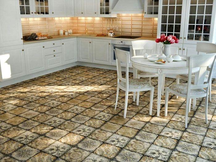 Керамическая плитка в стиле прованс для кухни соответствует перечисленным выше требованиям