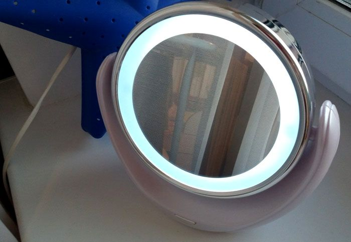 Алюминиевое зеркальце лучше захватить в путь