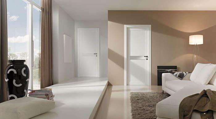Простые и красивые дверные полотна не отвлекают от остальной части помещения