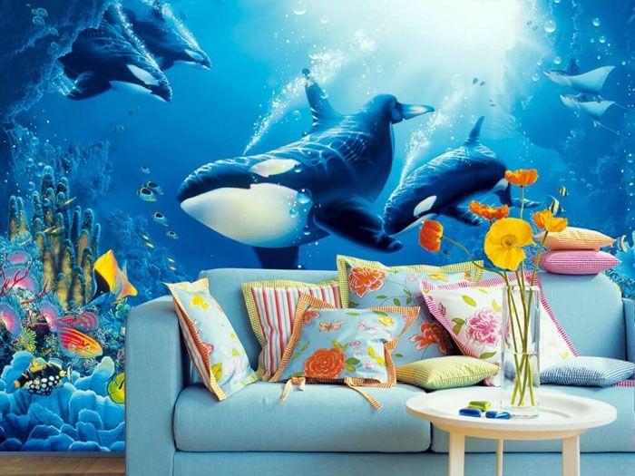 Природа, ландшафты, аквариум позволяют человеку отдохнуть от повседневности в собственной комнате