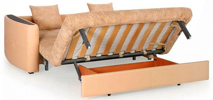 Преобразование дивана с опускающейся спинкой