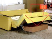 Встроенный ящик в раскладывающемся диване