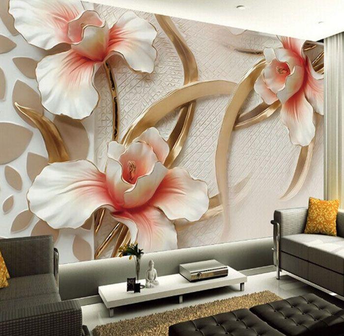 Фарфоровые цветы — изящество и вкус на стене