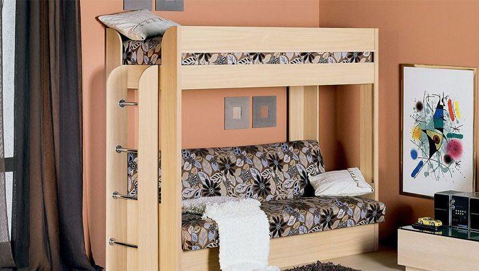 Типовая кровать двухъярусная с диваном