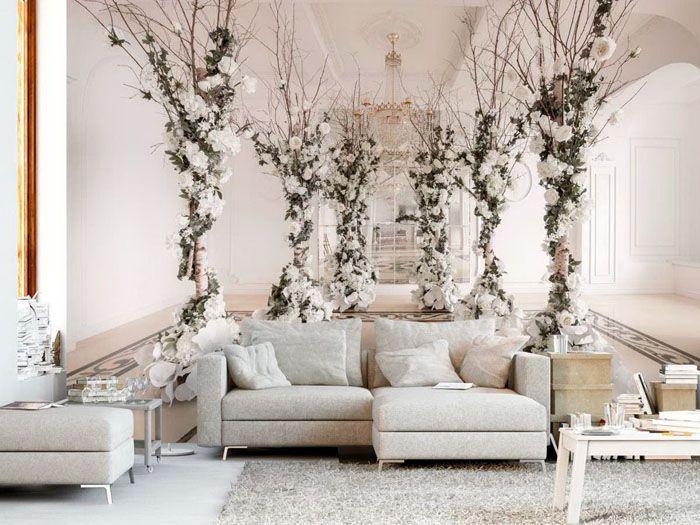 Главное, не попытаться попасть на диван с разбегу — настолько потрясающее оформление, что пространство кажется гораздо шире