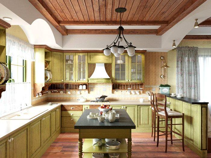 Кухни в стиле прованс нравятся горожанам своей простотой и изысканностью