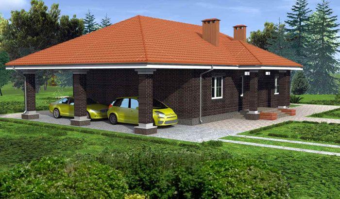 Визуализация в формате 3D более информативна, чем обычное фото одноэтажного дома из пеноблоков