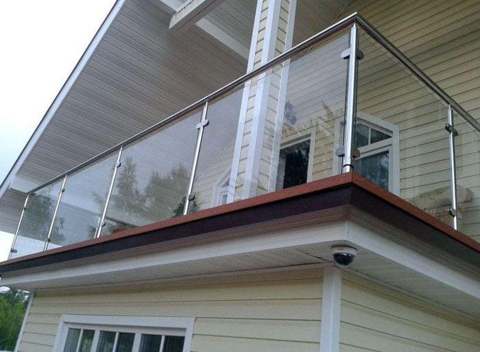 Перила из нержавеющей стали для балкона