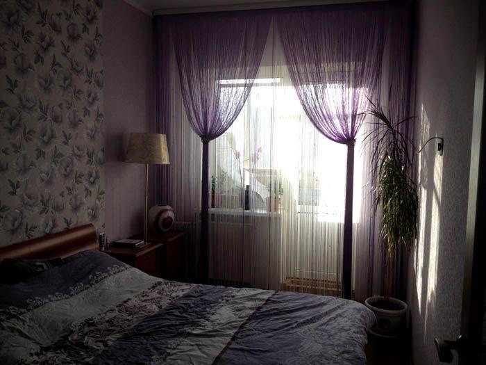 Подвязки служат ответом на вопрос, как красиво повесить шторы кисею