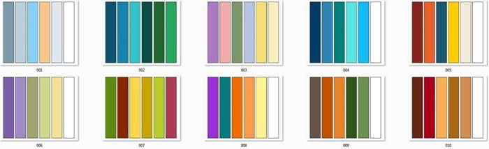 Для предотвращения ошибок совместимости цветов мастера пользуются специальными таблицами