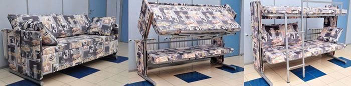 Лёгким движением руки… необычный диван превращается в двухъярусную кровать