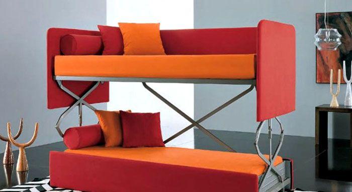 С помощью такой мебели красивая гостиная преобразуется в уютную спальню за несколько минут, не более