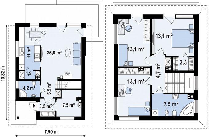 Планы первого и второго этажа