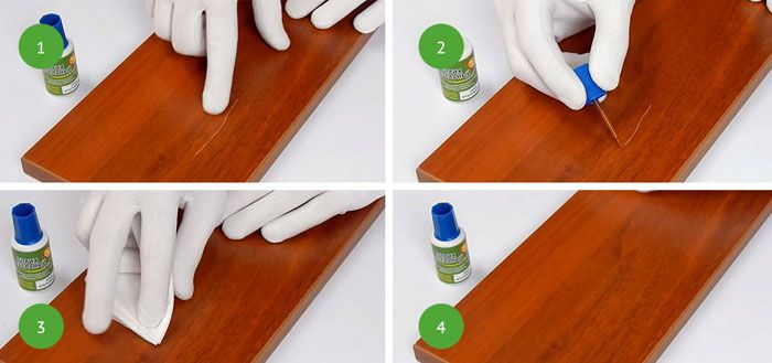 Как убрать царапины на деревянной мебели – последовательность правильных действий