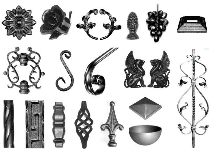 Подобные кованые изделия для ворот соединяются между собой методом сварки или с помощью специальных крепежей