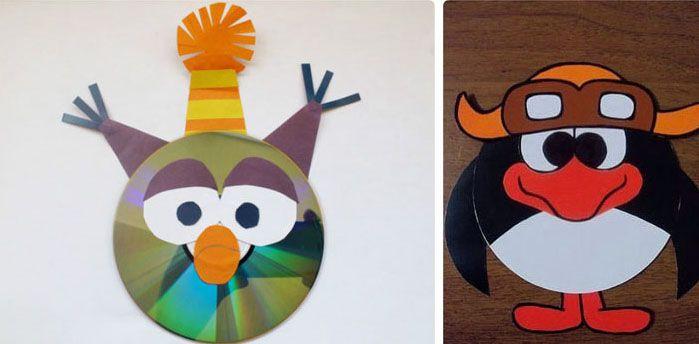 Любимые «Смешарики» делаются просто: взрослые рисуют на бумаге элементы зверей, а детские ручки вырезают и наклеивают их на диск