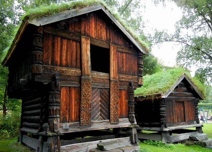Практика иногда опровергает теоретические предположения. Эти норвежские дома сохраняют целостность на протяжении веков без применения современных защитных пропиток