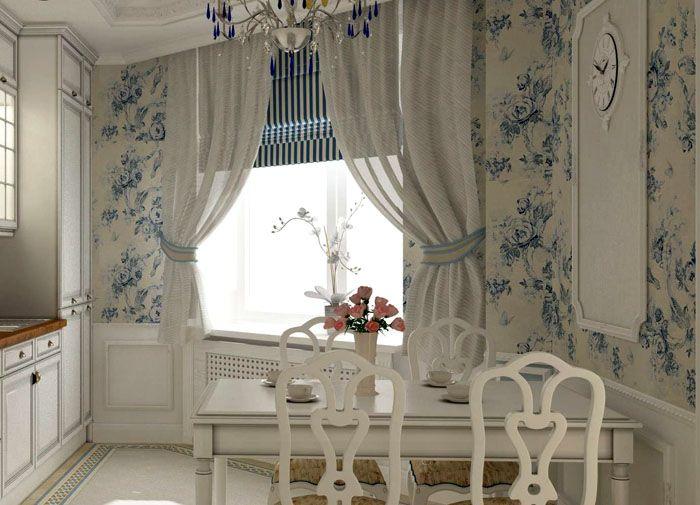 Элегантные голубые букеты гармонично оттеняют чрезмерную стерильность белого фона