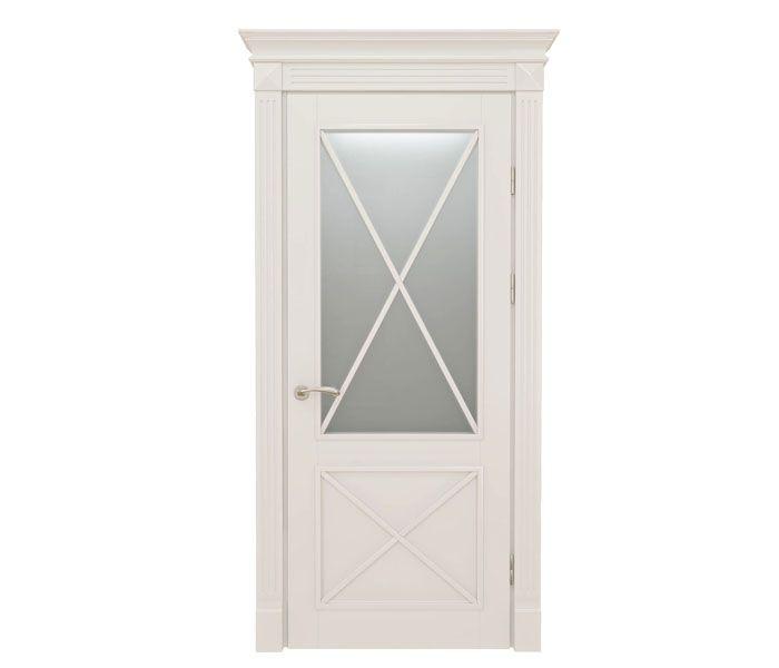 Гармония полотна из каталога коллекции Avant (производитель «Волховец»), межкомнатная дверь белый ясень совершенна