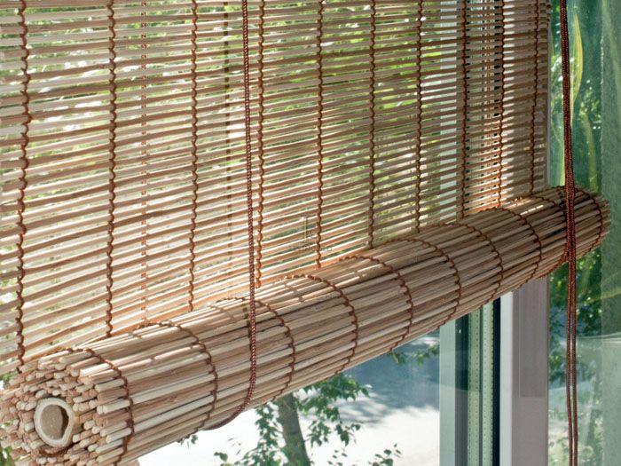 Бамбуковые ламели отлично выглядят в экоинтерьере