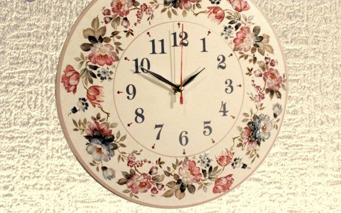 Настенные часы для кухни, созданные в стиле прованс