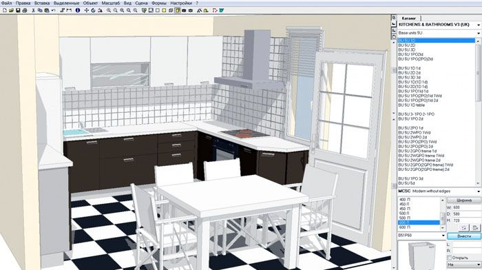 Компьютерная графика поможет заранее просчитать размер, габариты мебели и расположение технических приборов